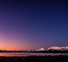 Lake Tekapo Sunset Stars by Russell Charters