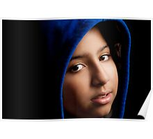 GIRL WITH THE BLUE HOODIE. Poster