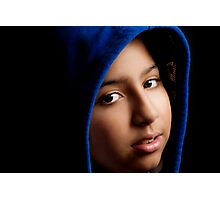 GIRL WITH THE BLUE HOODIE. Photographic Print