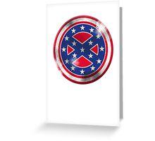 Captain Confederate Greeting Card