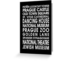 Prague City Roll Greeting Card