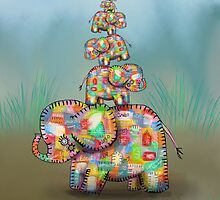 elephant jumble by © Karin  Taylor