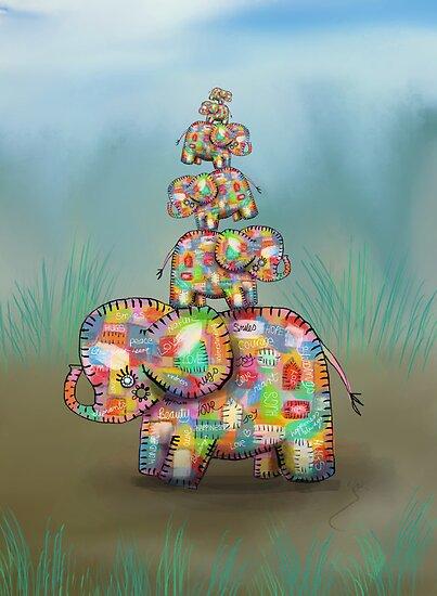 elephant jumble by © Karin  Taylor