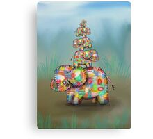 elephant jumble Canvas Print