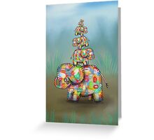 elephant jumble Greeting Card