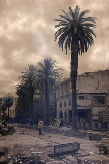 Casablanca Construction, Morocco - Infrared by Debbie Pinard