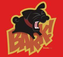 Black Pug BARK! Kids Tee