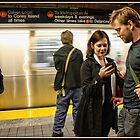 Waiting for the F Train by Mikell Herrick
