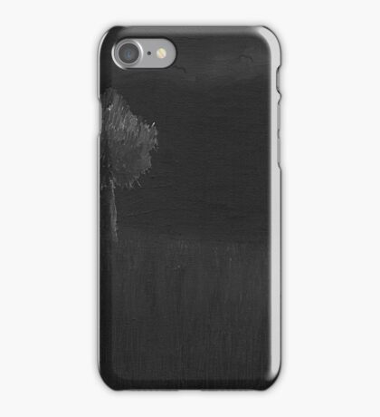 Field at Night with Bats iPhone Case/Skin
