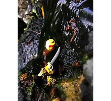 Lego Man Climbing A Waterfall Photographic Print
