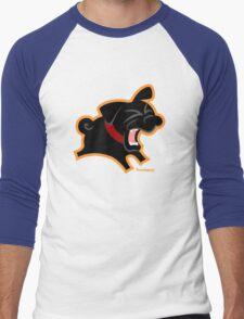 Black Pug (Un)Bark! Men's Baseball ¾ T-Shirt