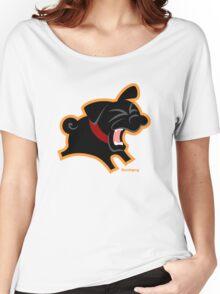 Black Pug (Un)Bark! Women's Relaxed Fit T-Shirt