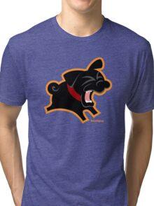 Black Pug (Un)Bark! Tri-blend T-Shirt