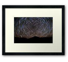 Flagstone Creek Startrails Framed Print