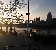 Over the Ohio  River by violinist