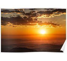 Sunrise Over The Lockyer Poster