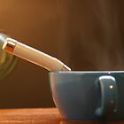 Hot Tea In The Fall Season by click1twome