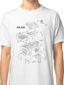 4A-GE Engine Diagram (Bright Colors) Classic T-Shirt