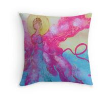 Breast Cancer Angel Throw Pillow