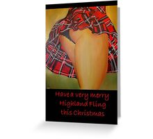 A Scottish Highland Fling Christmas Greeting Card Greeting Card