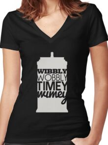 Wibbly Wobbly Timey Wimey...Stuff Women's Fitted V-Neck T-Shirt