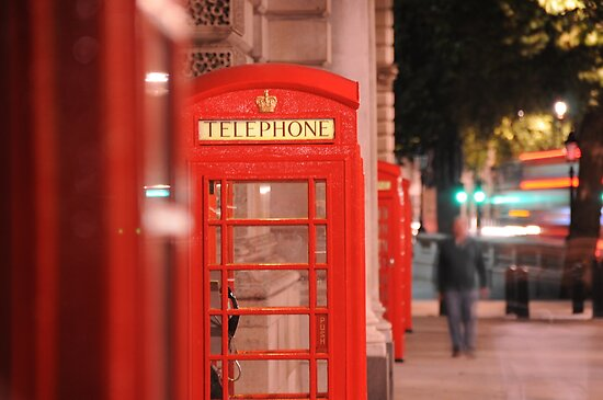 Iconic Red London Telephone Box by brodien