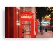 Iconic Red London Telephone Box Canvas Print