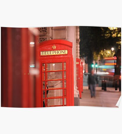 Iconic Red London Telephone Box Poster