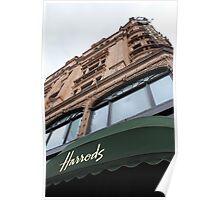 Harrods Department Store, London Poster