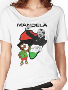 Bootleg Bart Simpson - Nelson Mandela Women's Relaxed Fit T-Shirt