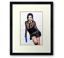 Blu Jess and Her Raygun Framed Print
