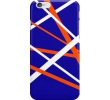 Blue, orange, white iPhone Case/Skin