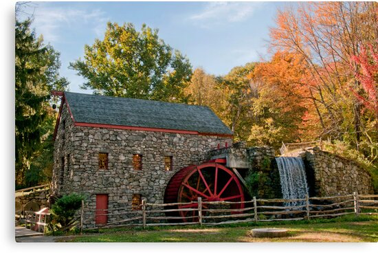 Longfellow's Wayside Inn Grist Mill by TeresaB