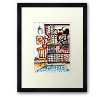Which book shall we read Framed Print