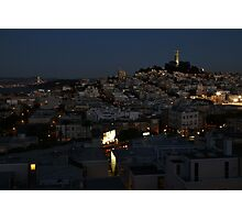 Here Comes the Night ~ Coit Tower Photographic Print