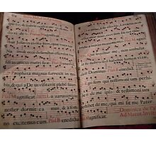 Medieval Sheet Music Photographic Print