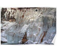 Frozen cliffs Poster