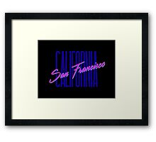 Retro 80s San Francisco, California Framed Print