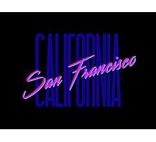 Retro 80s San Francisco, California Photographic Print
