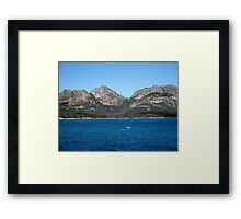 The Hazards, Freycinet, Tasmania, Australia. Framed Print