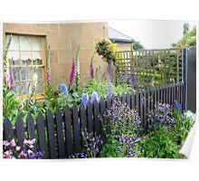 Cottage Garden at Oatlands Poster