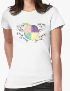 Peach Womens Fitted T-Shirt