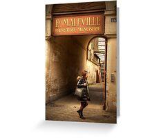 Etablissements Maleville, Paris France Greeting Card