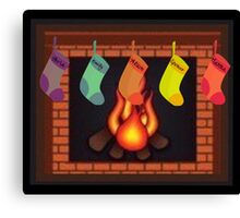 Liars Roasting On An Open Fire...... Canvas Print