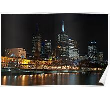 0352 Melbourne at night Poster