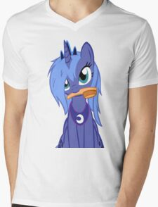 Luna ,Messy Mane  Mens V-Neck T-Shirt