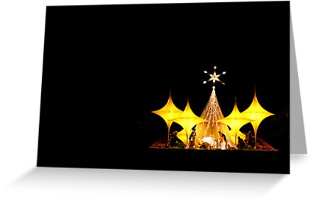 Nativity scene by lensbaby