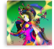 Colour Figure Metal Print