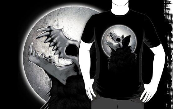 Skull Wolf Howl by digimitsu