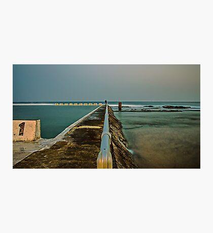 Photographer at Work.  Merewether Ocean Baths Photographic Print